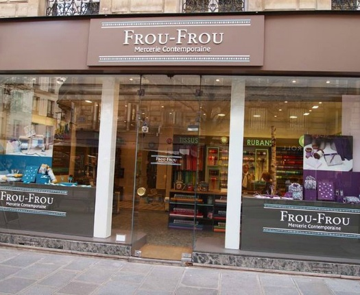 Frou-Frou, France Cotton Poplin, Uni by Frou-Frou in Prune, Fabric Half-Yards