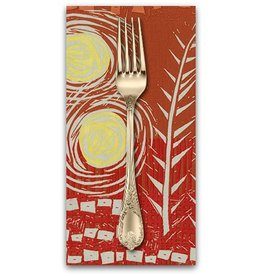 PD's Valori Wells Collection Marks, Panel in Saffron, Dinner Napkin