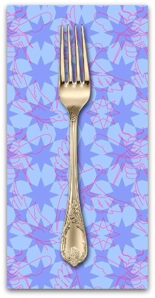 PD's Alison Glass Collection Seventy Six, Flourish in Periwinkle, Dinner Napkin