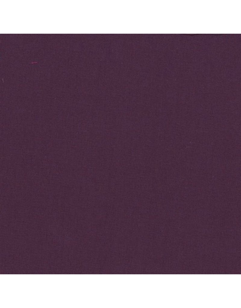 Frou-Frou, France Cotton Poplin, Uni by Frou-Frou in Prune, Fabric Half-Yards