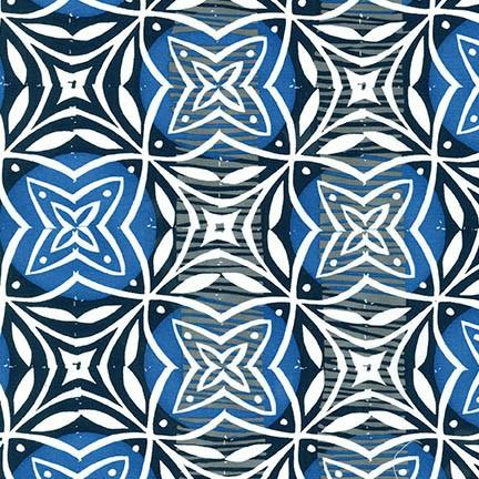PD's Valori Wells Collection Marks, Imprint in Indigo, Dinner Napkin