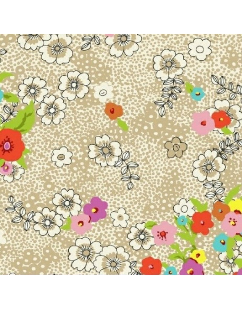 Victoria Findlay Wolfe Meadow Storm, Floral in Multi, Fabric Half-Yards