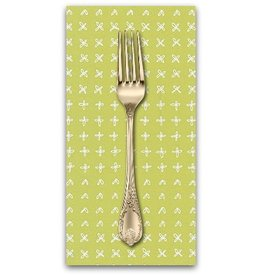 PD's Robert Kaufman Collection Blueberry Park, Greens in Zucchini, Dinner Napkin