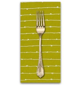 PD's Robert Kaufman Collection Blueberry Park, Lines in Pickle, Dinner Napkin