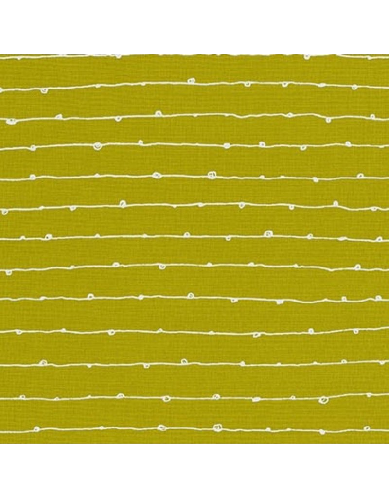 Karen Lewis Blueberry Park, Lines in Pickle, Fabric Half-Yards