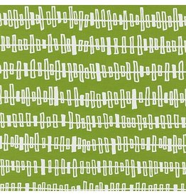 Karen Lewis Blueberry Park, Fence in Lime, Fabric Half-Yards