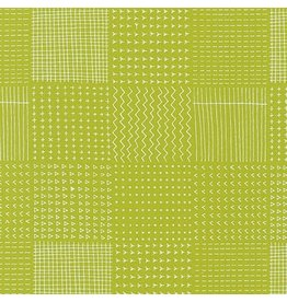 Karen Lewis Blueberry Park, Garden Beds in Limelight, Fabric Half-Yards
