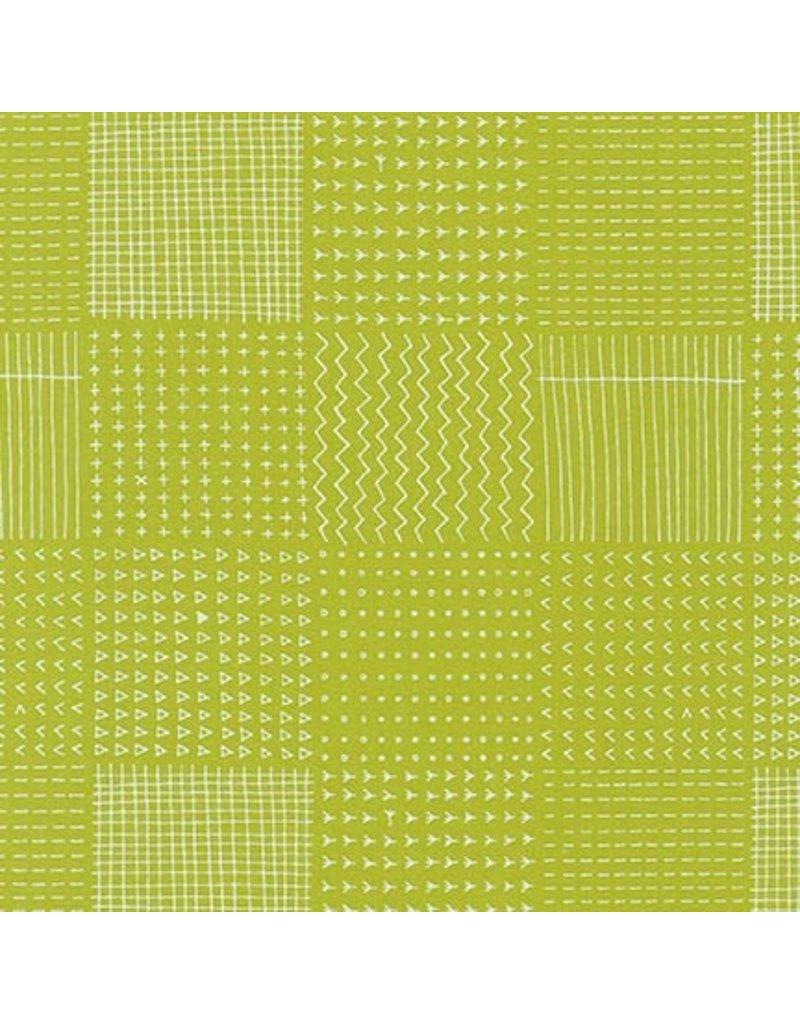 Karen Lewis Blueberry Park, Garden Beds in Limelight, Fabric Half-Yards