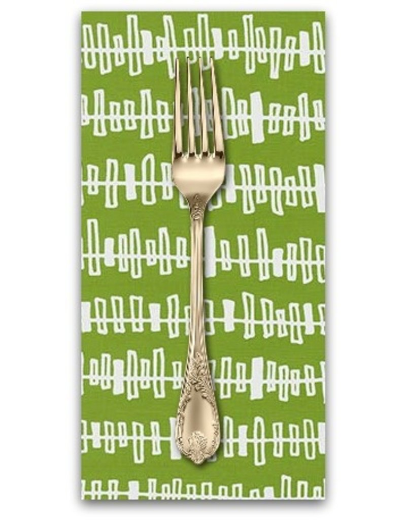PD's Robert Kaufman Collection Blueberry Park, Fence in Lime, Dinner Napkin