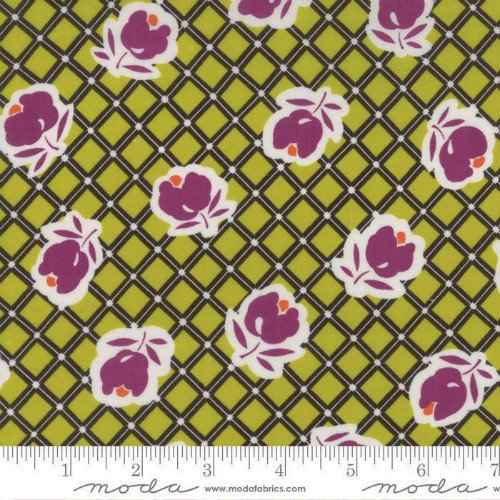 Moda Cotton Lawn, Moving On Lawns, Spring in Green Envy, Fabric Half-Yards