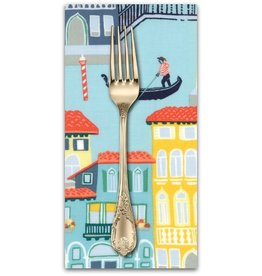 PD's Moda Collection Grand Canal, Venezia in Cypress, Dinner Napkin