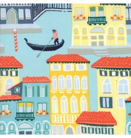 Kate Spain Grand Canal, Venezia in Cypress, Fabric Half-Yards