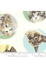 Erin Michael Meow or Never, Cats in Milk, Fabric Half-Yards