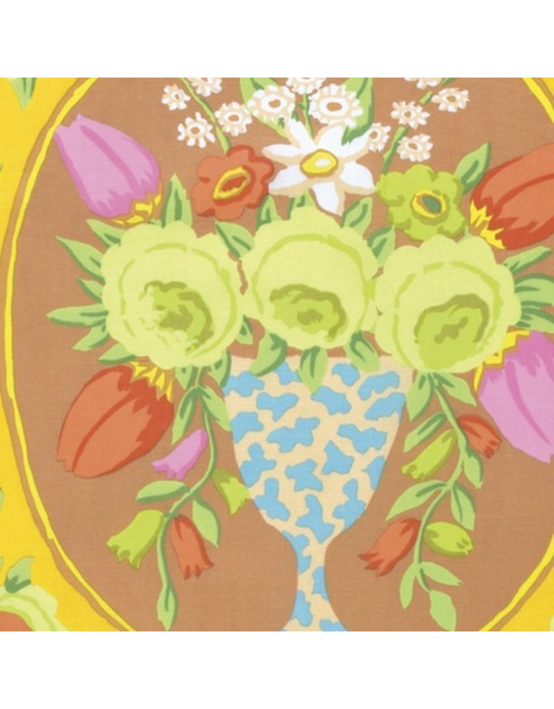 PD's Kaffe Fassett Collection Kaffe Collective Fall 2016, Cameo in Yellow, Dinner Napkin