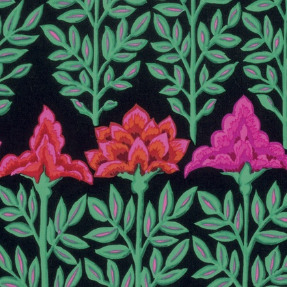 PD's Kaffe Fassett Collection Kaffe Collective Fall 2016, Mughal in Black, Dinner Napkin