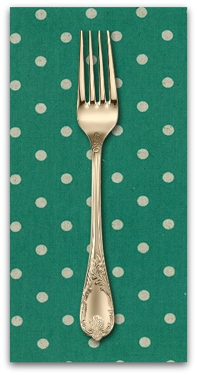 PD's Linen Blend Collection Linen Mochi Dot in Teal, Dinner Napkin