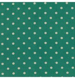 Moda Linen Mochi Dot in Teal, Fabric Half-Yards