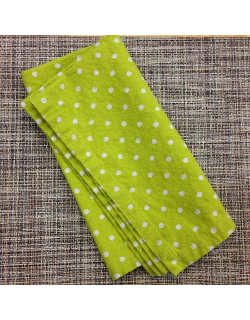 PD's Linen Blend Collection Linen Mochi Dot in Turquoise, Dinner Napkin