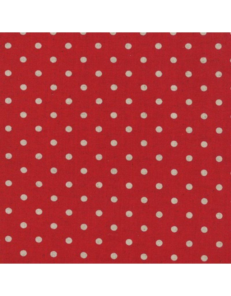 PD's Linen Blend Collection Linen Mochi Dot in Red, Dinner Napkin