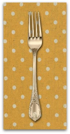 PD's Linen Blend Collection Linen Mochi Dot in Golden Wheat, Dinner Napkin