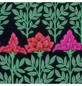 Kaffe Fassett Kaffe Collective, Mughal in Black, Fabric Half-Yards