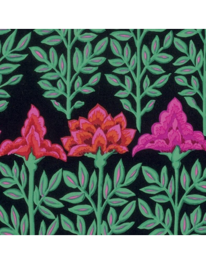 Kaffe Fassett Kaffe Collective Fall 2016, Mughal in Black, Fabric Half-Yards