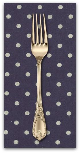 PD's Linen Blend Collection Linen Mochi Dot in Navy, Dinner Napkin