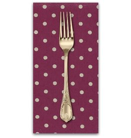 PD's Linen Blend Collection Linen Mochi Dot in Boysenberry, Dinner Napkin