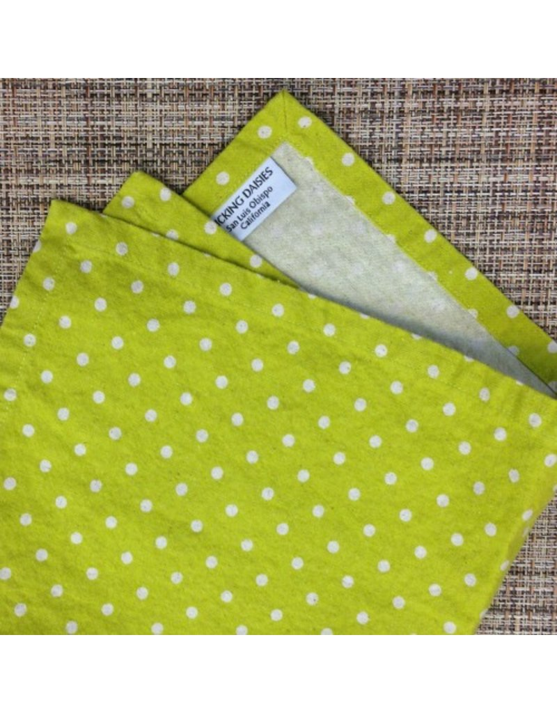 PD's Linen Blend Collection Linen Mochi Dot in Tangerine, Dinner Napkin