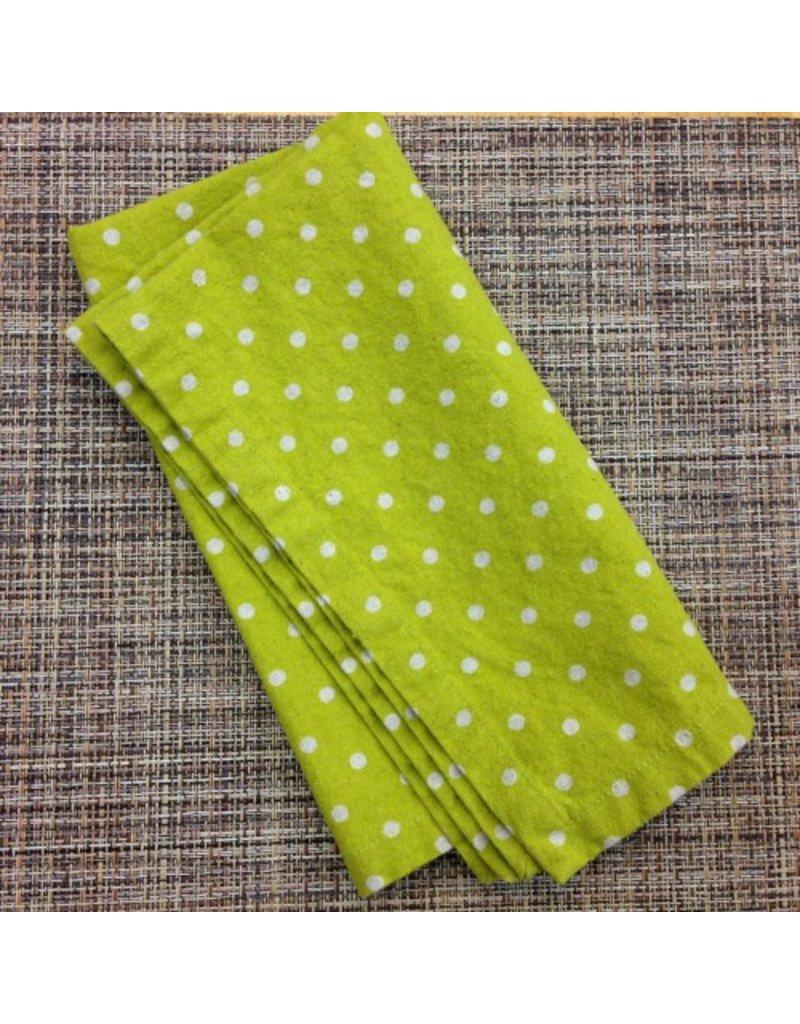 PD's Linen Blend Collection Linen Mochi Dot in Teal, Dinner Napkin
