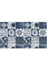 Rae Ritchie Tea Party, Tablecloth in Denim, Fabric Half-Yards