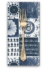 PD's Rae Ritchie Collection Tea Party, Tablecloth in Denim, Dinner Napkin