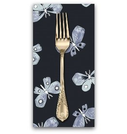 PD's Rae Ritchie Collection Honey Bee, Butterfiles in Navy, Dinner Napkin
