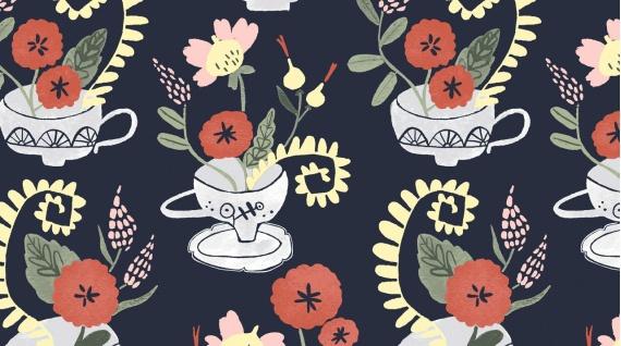 PD's Rae Ritchie Collection Tea Party, Tea Cup Bouquet, Dinner Napkin