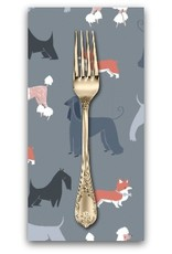 PD's Rae Ritchie Collection Tea Party, Show Dogs in Pewter, Dinner Napkin