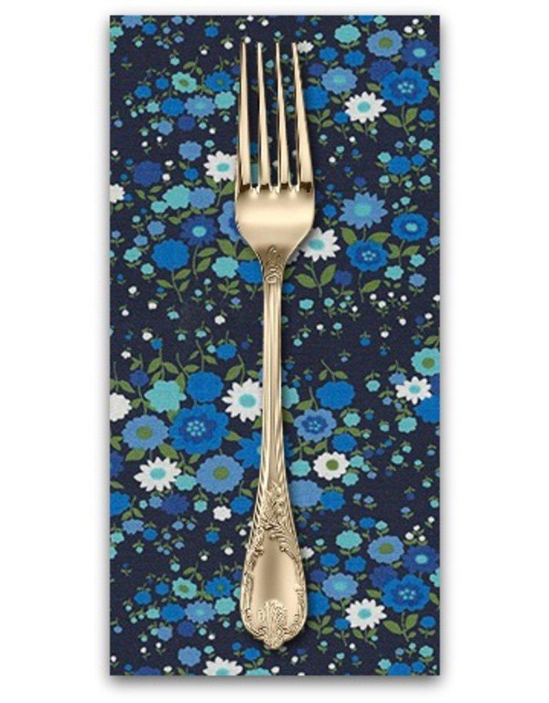 PD's Robert Kaufman Collection Sevenberry, Petite Garden in Midnight Blue, Dinner Napkin