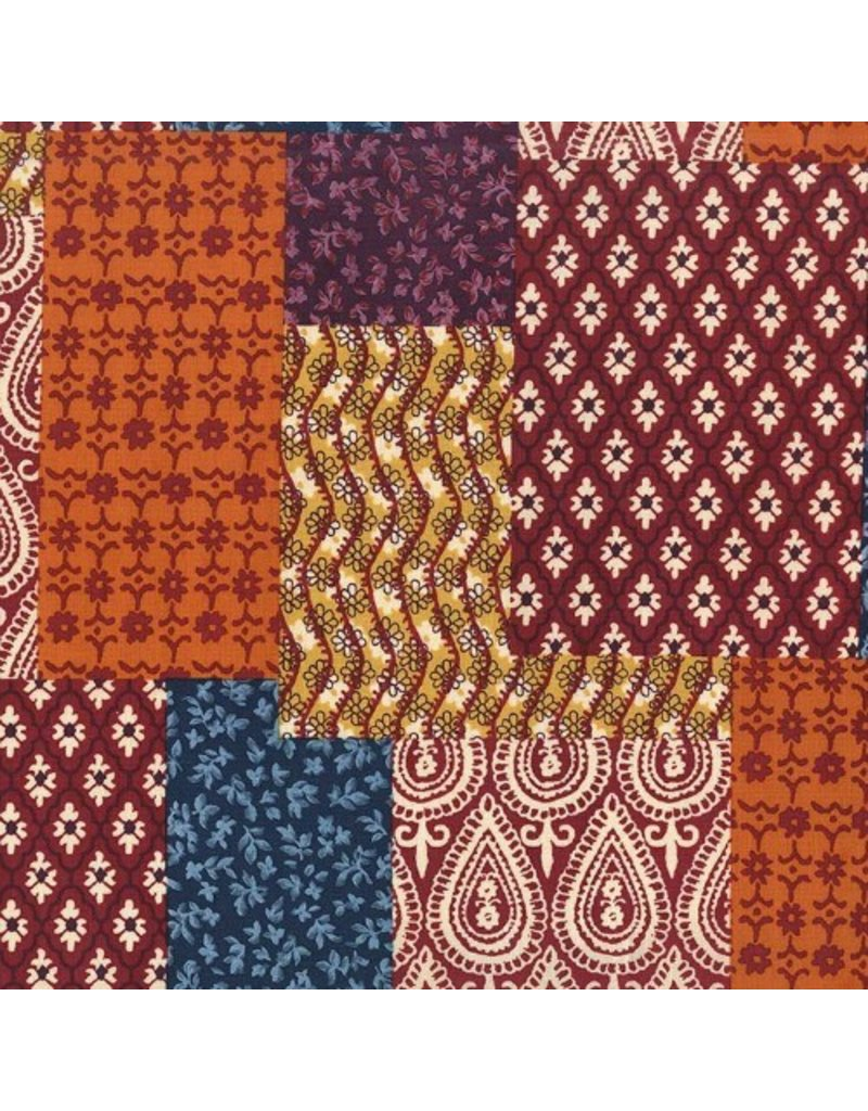 Michael Miller Indian Summer, Patch-Ouli in Spice, Fabric Half-Yards