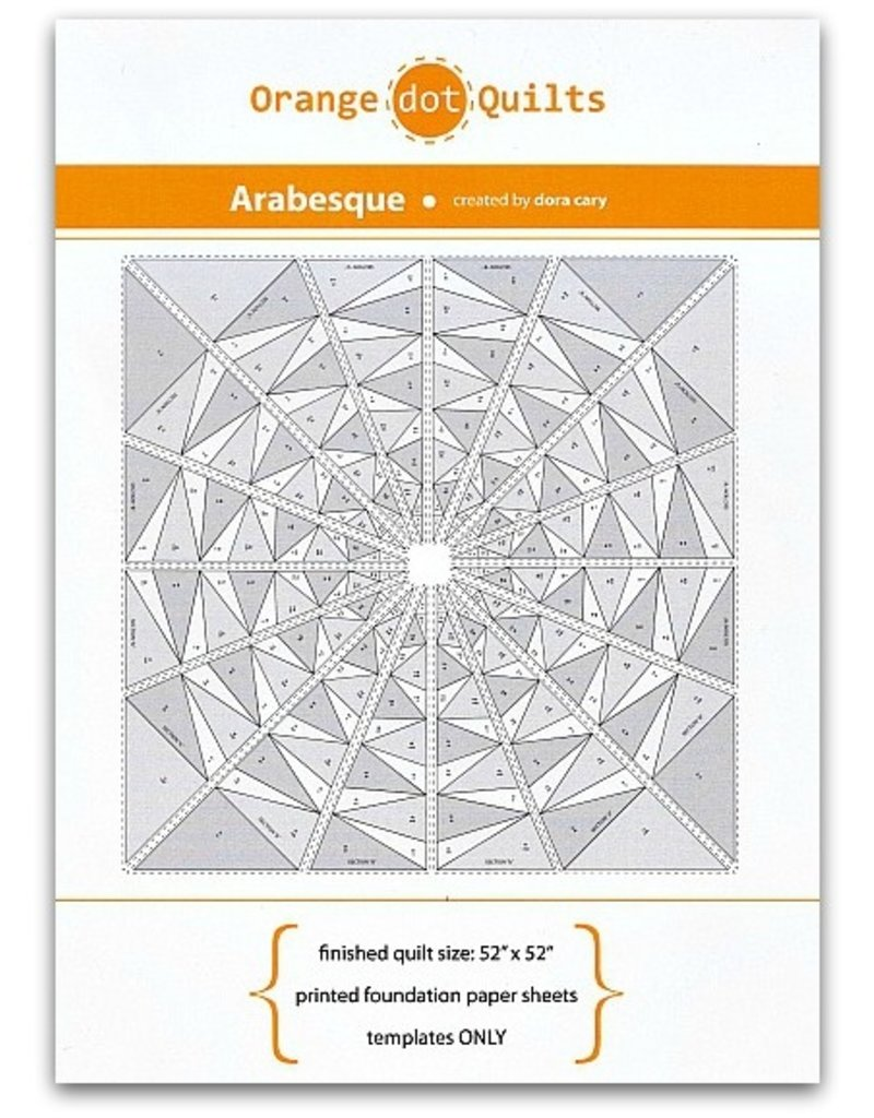 Orange Dot Quilts Orange Dot Quilt's Arabesque -  templates only