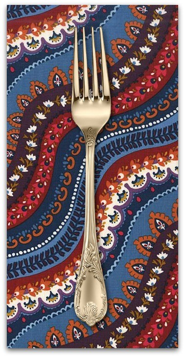 PD's Michael Miller Collection Indian Summer, Gypsy Stripe in Spice, Dinner Napkin