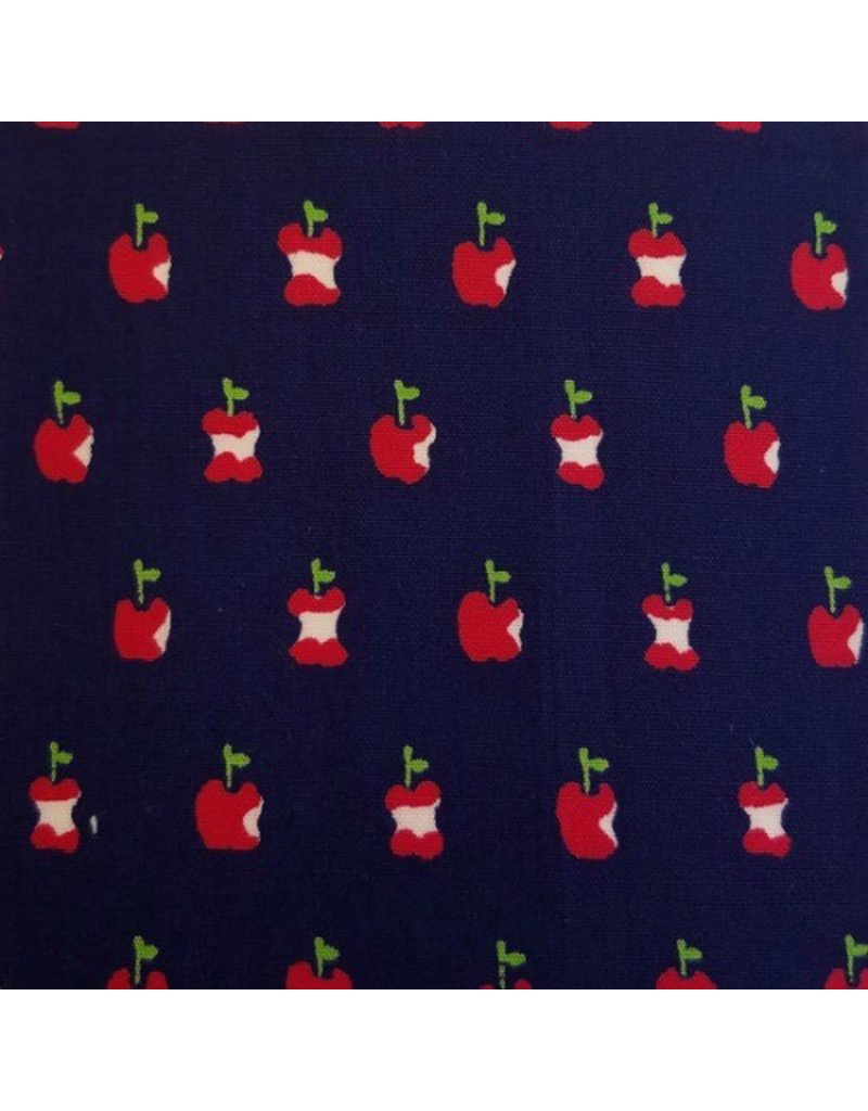 PD's Alexander Henry Collection In the Kitchen, Apple a Day in Navy, Dinner Napkin
