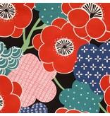 Alexander Henry Fabrics Indochine, Kiki Ume in Black, Fabric Half-Yards