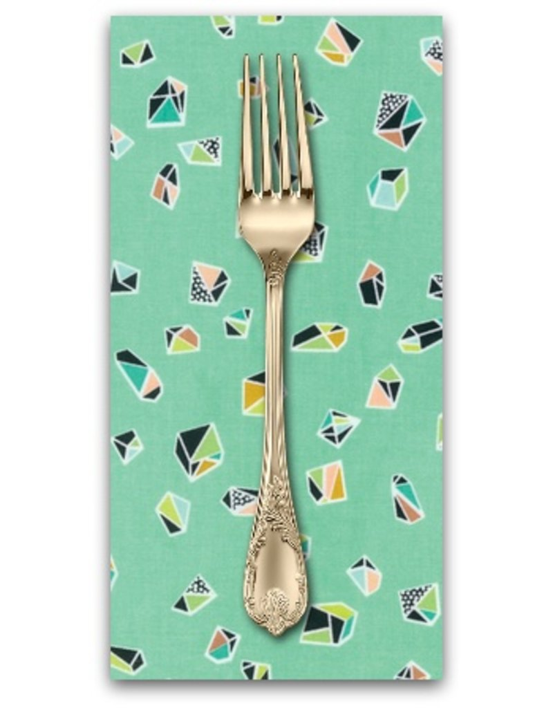 PD's Erin McMorris Collection Intermix, Helix in Mint, Dinner Napkin