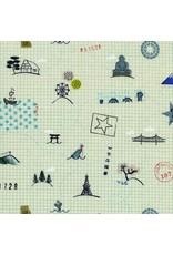 Rashida Coleman-Hale Kujira & Star, Sightseeing in Sand Dollar, Fabric Half-Yards