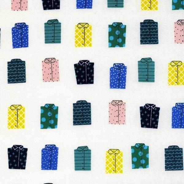 Rashida Coleman-Hale Kujira & Star, Whales Don' Wear Shirts in Sand Dollar, Fabric Half-Yards