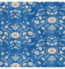 Alexia Abegg Flower Shop, Folk Dress in Sea, Fabric Half-Yards