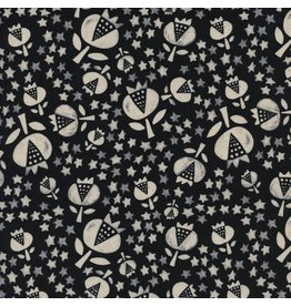 Alexia Abegg Flower Shop, Thistle in Night, Fabric Half-Yards