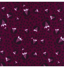 Alexia Abegg Rayon, Flower Shop, Thistle in Cerise, Fabric Half-Yards
