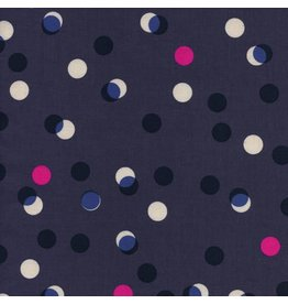 Melody Miller Jubilee, Party Lights in Blue, Fabric Half-Yards
