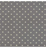 Moda Linen Mochi Dot in Graphite, Fabric Half-Yards