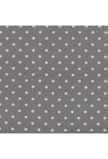Moda Linen Mochi Dot in Graphite, Fabric Half-Yards